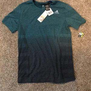 Adidas Blue Ombré Climalite Running Shirt
